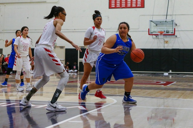 Miranda Ta'amu posted eight points and six rebounds against LBCC