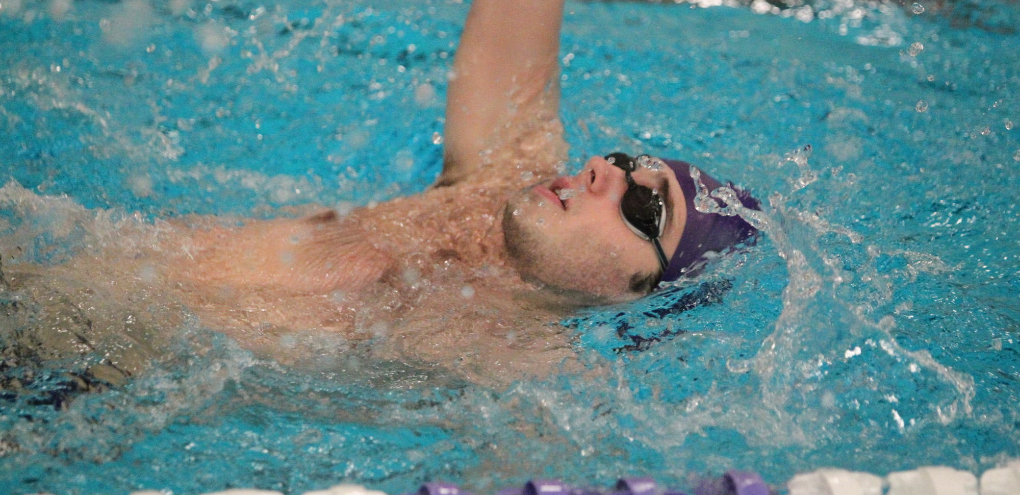Junior John Fimmano was a Landmark Conference Champion in the 200-butterfly last season. He and the Royals kick-off their 2019-20 campaign on Sunday, Oct. 20 at Marywood.  (Photo by Timothy R. Dougherty / doubleeaglephotography.com)