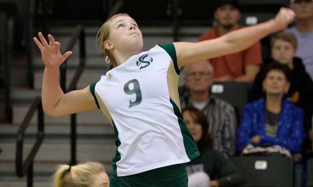 VOLLEYBALL BEATS MONTANA STATE, ONE WIN AWAY FROM A REGULAR SEASON CHAMPIONSHIP