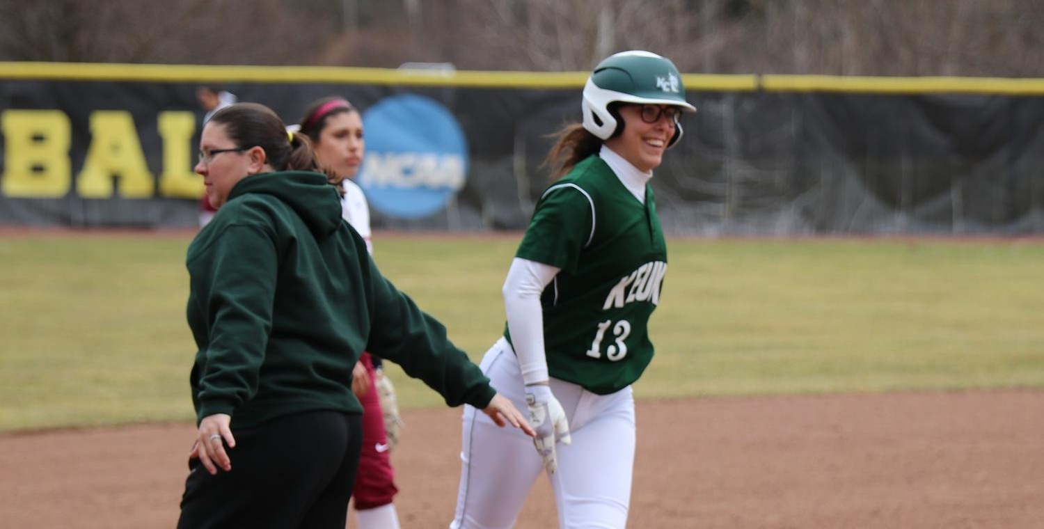 Jordan Cole (13) hit her first career home run on Thursday