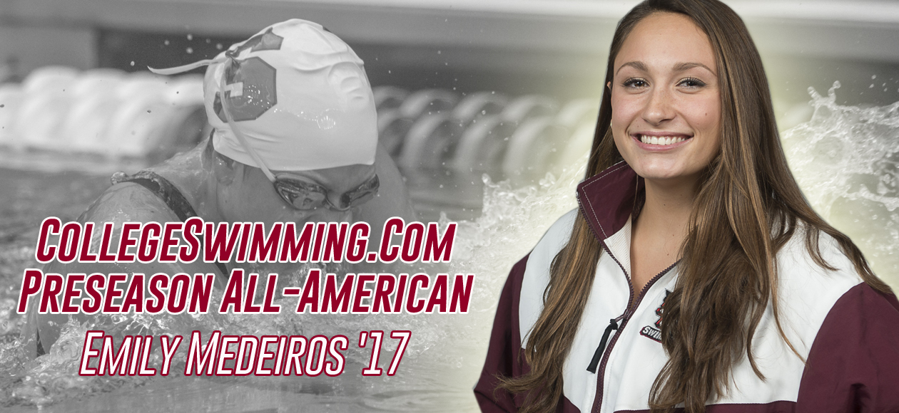 Medeiros Named CollegeSwimming.com Preseason All-American