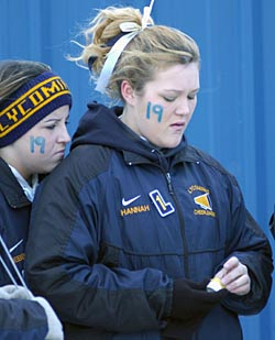 Lycoming cheerleaders honored Ricky Lannetti's memory.