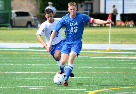 Heaney Scores Twice to Lead Men's Soccer to 3-0 Win