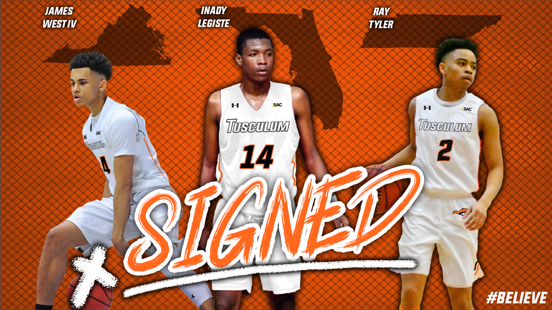 Three sign with Tusculum men's basketball