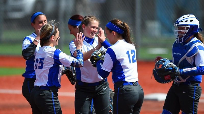 Softball Stuns Mount 11-1 in Five Innings, Falls Short in Game One Friday