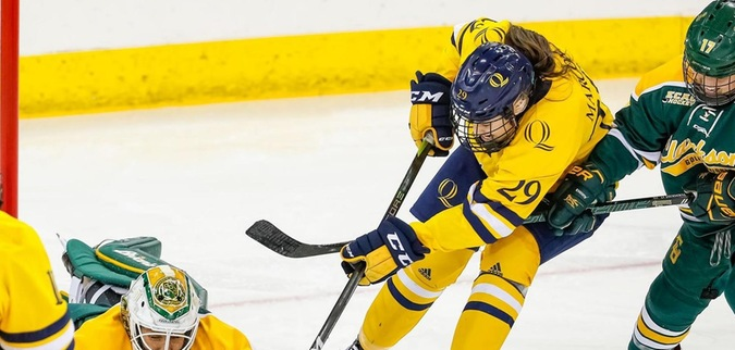 Marcon leads Quinnipiac to tie against No. 5 Clarkson