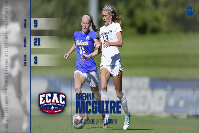 Brenna McGuire Named ECAC Rookie of the Month