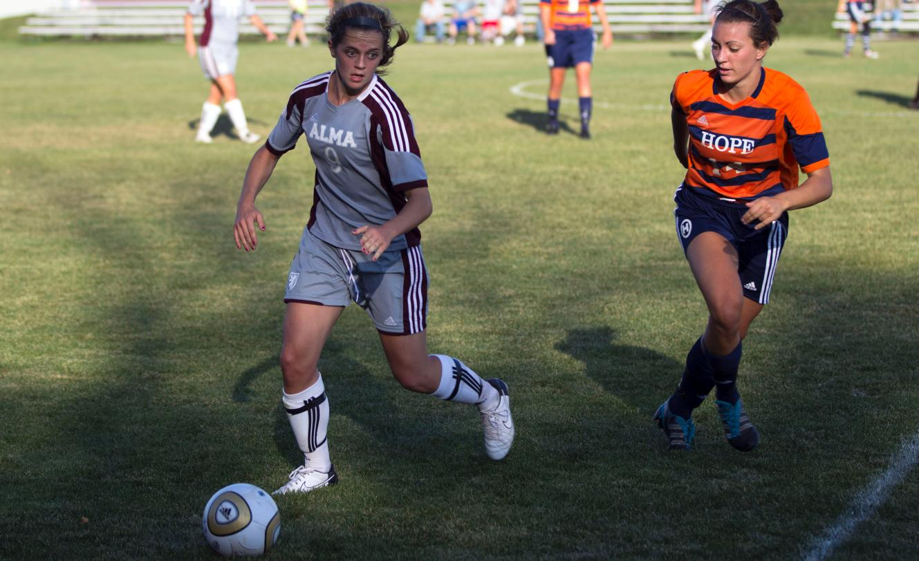 Alma Women's Soccer loses to Hope College 3-2  in MIAA Tournament Semi-Finals on Friday afternoon