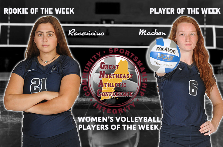 Women's Volleyball: Macken, Racevicius named GNAC Players of the Week