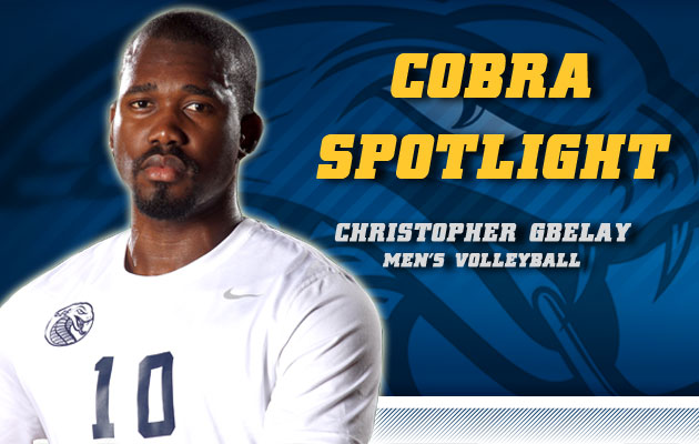 Cobra Spotlight- Christopher Gbelay Men's Volleyball