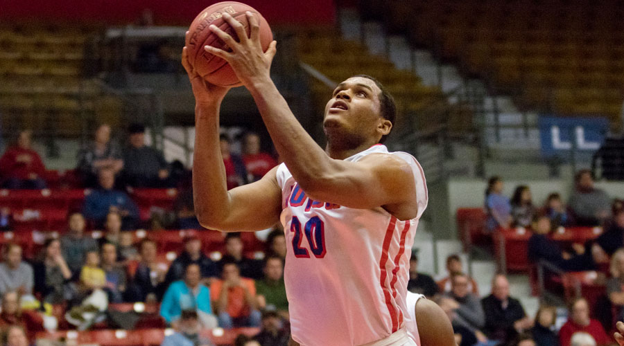 Kai Mitchell had 10 points and six rebounds in Hutchinson's 79-68 victory over Butler on Saturday at the Sports Arena. (Allie Schweizer/Blue Dragon Sports Information)