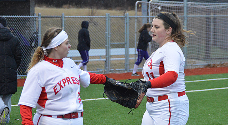 Softball Drops Pair; Saturday's Games Moved To Friday