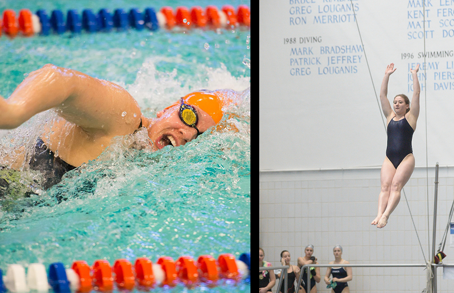 Angulas and Reichman recognized for top performances in women's swimming and diving this week