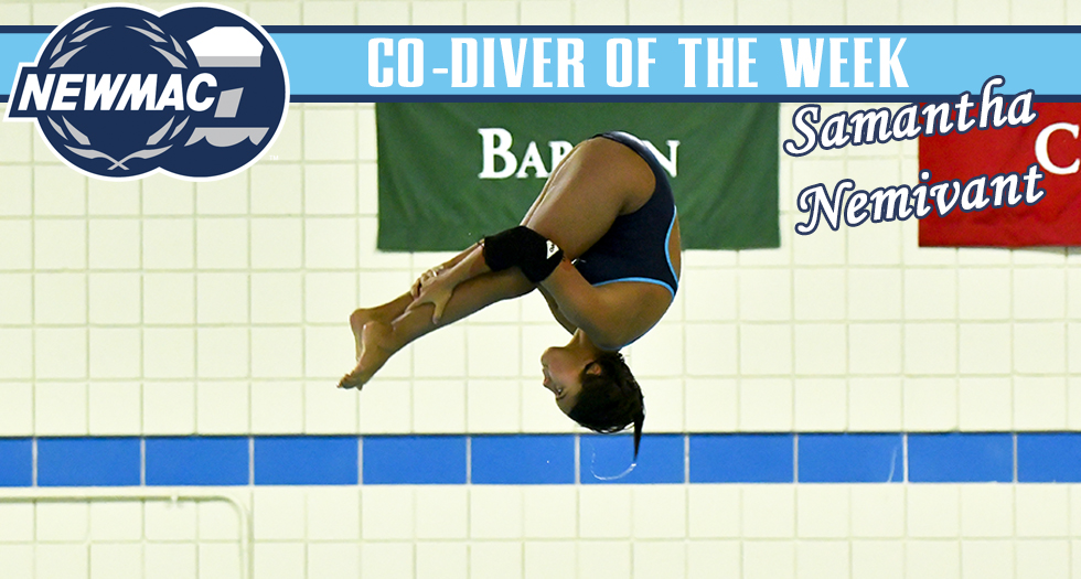 Samantha Nemivant Earns NEWMAC Diver of the Week Honors