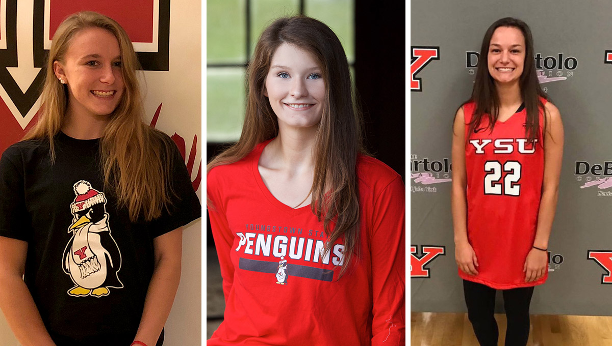 Gabby Lupardus, Madison Mallory and Taylor Petit each signed an NLI to join the Youngstown State women's basketball program.