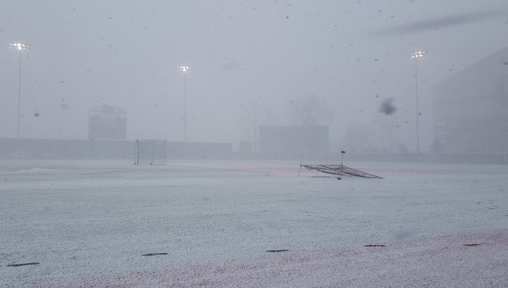 YSU's game at Charles L. Cost Field was canceled. (Photo by Tim Gallo)