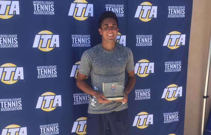 Aman Manji Brings Home D-III Singles Crown At ITA Oracle Cup