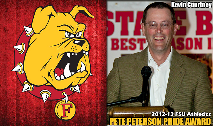 "FSU Blueline Club's Kevin Courtney Receives ""Pete Peterson Bulldog Pride"" Award"
