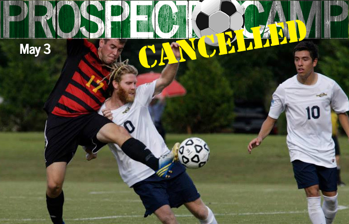 Men's Soccer High School Prospect Camp Cancelled