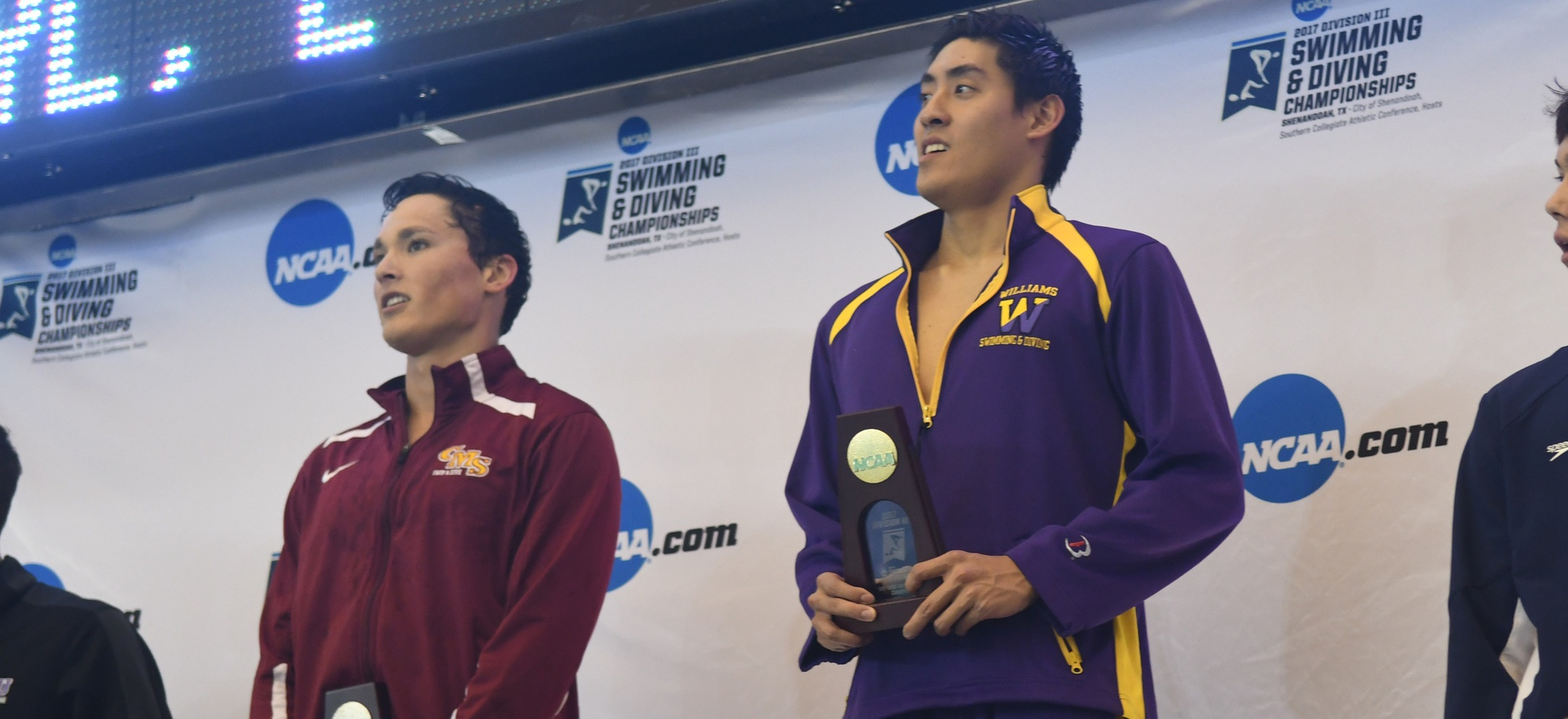 Williams, Ngo and Presti place individually; 800 free relays earn points for CMS
