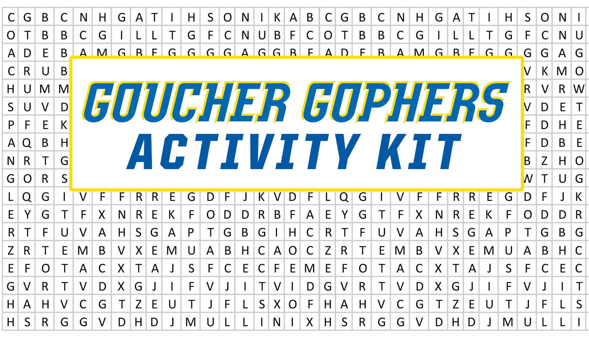 Goucher Gophers Activity Kit: Spring Edition