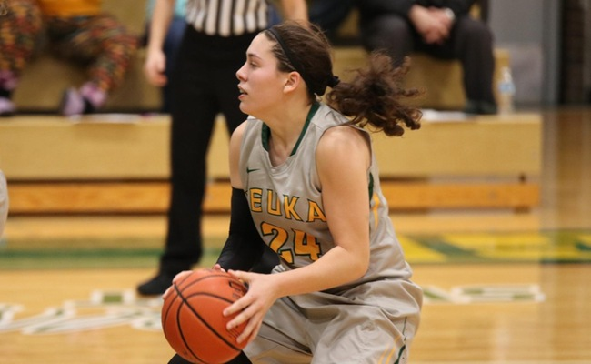 Lauren Anten (24) led Keuka College with 17 points in their win on Saturday
