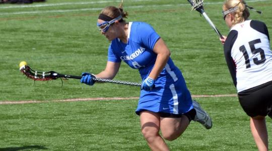 Balanced scoring leads Women's Lacrosse to victory at Aurora