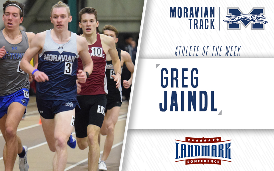 Greg Jaindl named Landmark Conference Men's Track Athlete of the Week.