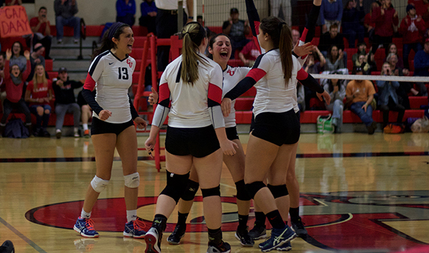 Volleyball Falls at Wheaton in NEWMAC Quarterfinal Season Finale