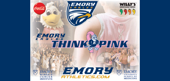 "Emory To ""Think Pink"" During Women's Basketball Game vs. Brandeis"