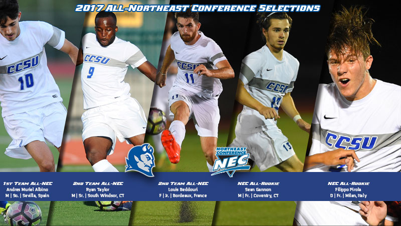 Five From Men's Soccer Earn All-NEC Recognition