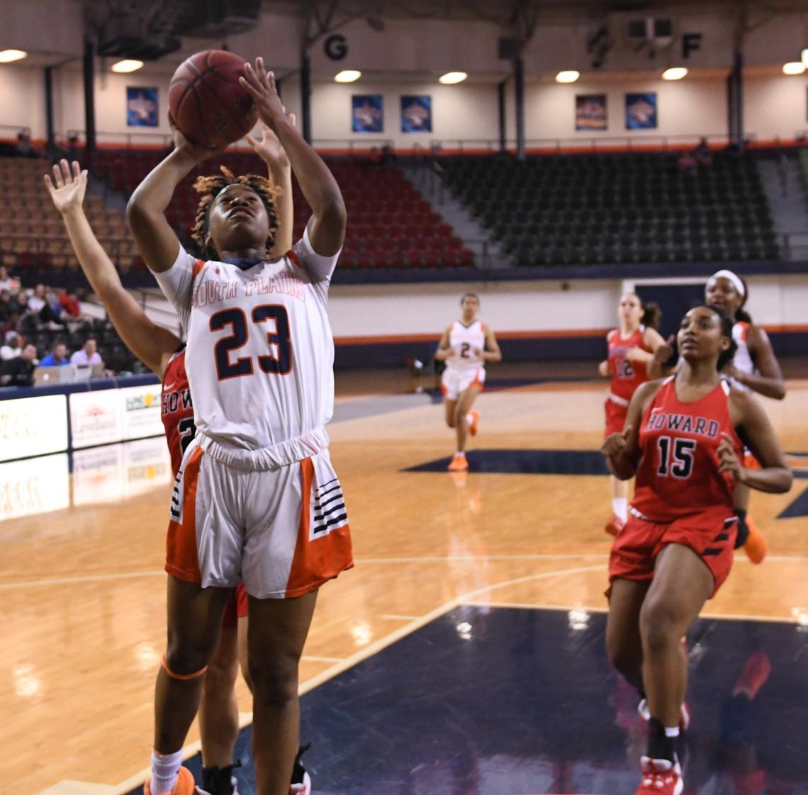McCoy's 22 points, nine boards lead #1 Lady Texans past Frank Phillips 85-55 Thursday