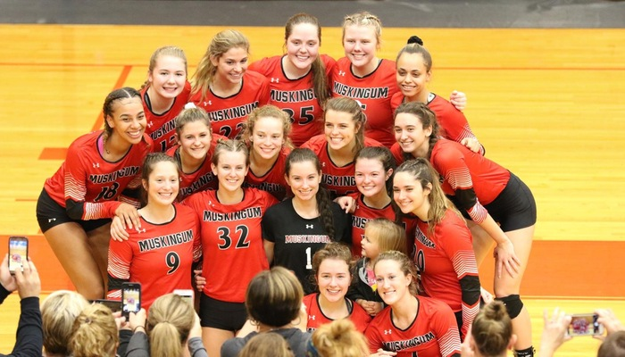 Muskingum Volleyball secures a spot in the OAC Tournament Finals for the 1st time since 2006