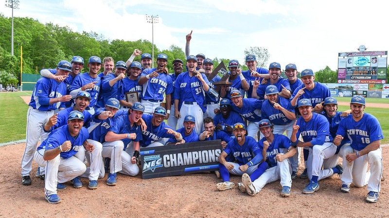 Baseball Wins NEC Championship, 3-2, Over Bryant Sunday