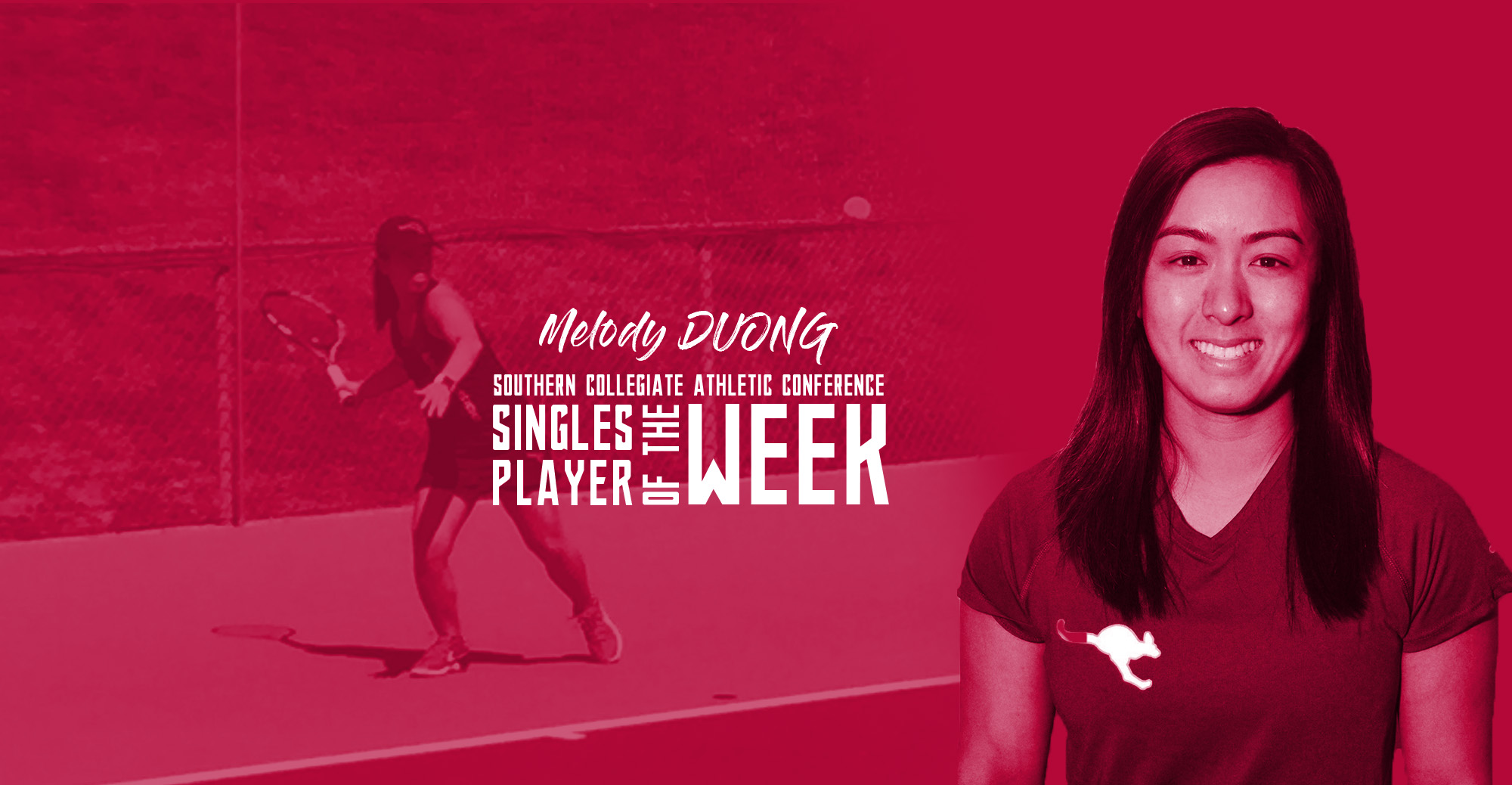 Duong Named SCAC Singles Player of the Week