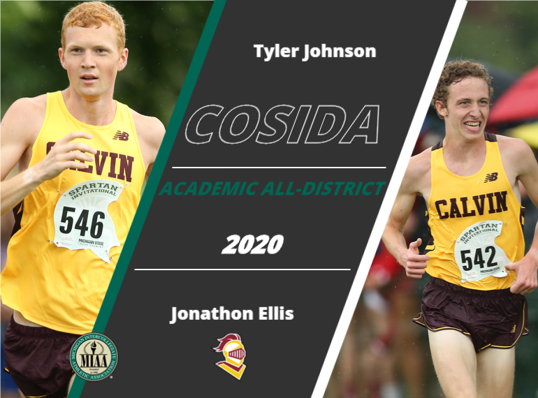 Calvin's Tyler Johnson and Jonathan Ellis Named to CoSIDA Academic All-District Track and Field/Cross Country Team
