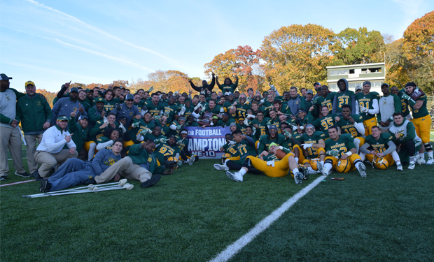 LIU Post Wins Second NE-10 Football Title in Three Years, 43-23, Over Assumption