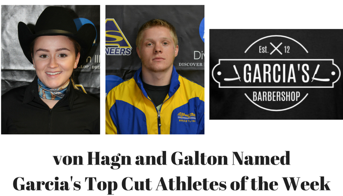 Rachel von Hagn and Mike Galton named Garcia's Athletes of the Week
