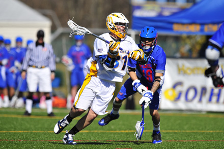 Averett Contributes Seven Goals to 11-7 Win Over Crusaders