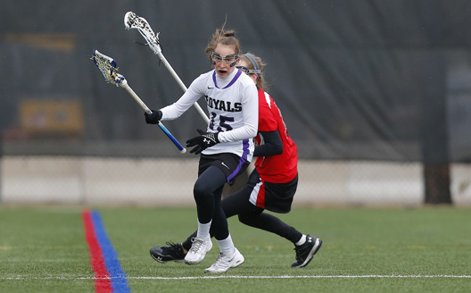 Sophomore Erin Allen scored two goals in today's 18-6 loss to Catholic University in Washington, DC