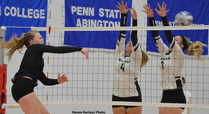 Women's Volleyball Starts NEAC Play With Win