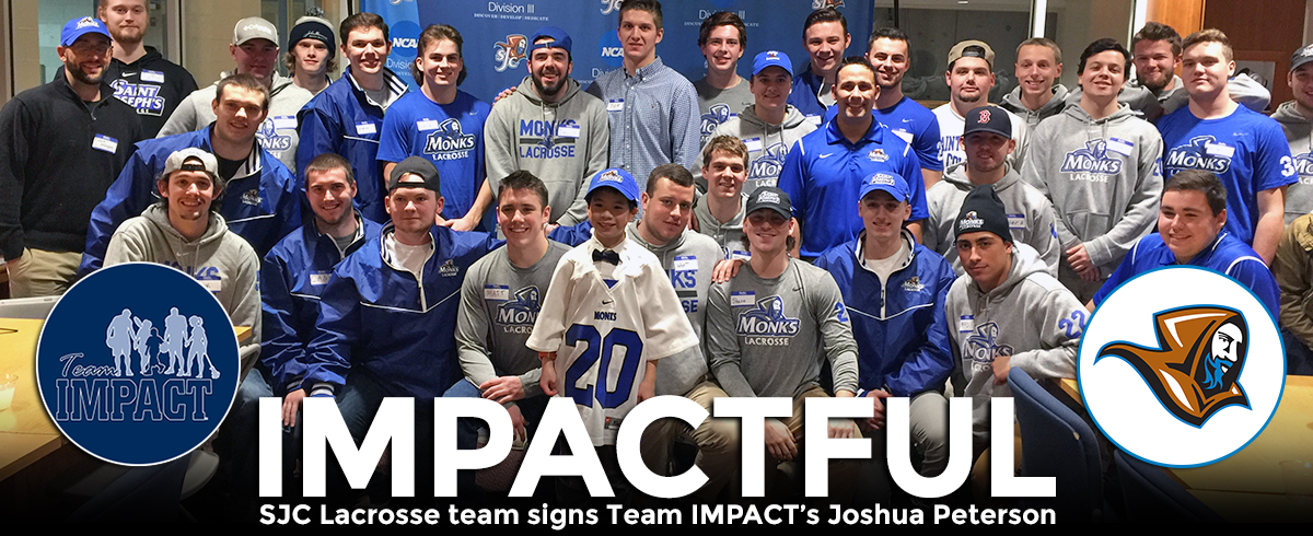 Monks Lacrosse Signs Team IMPACT's Joshua Peterson