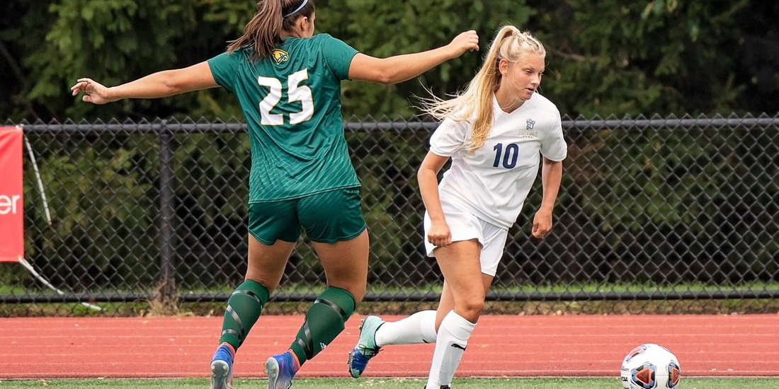 Women's Soccer Conquers Norwich, 2-0, for Best GNAC Start in Program History