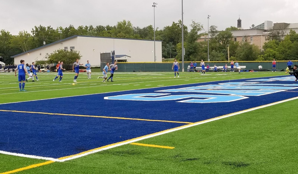 Westminster Men's Soccer Records First Win on New Turf