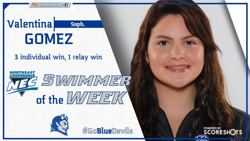 Gomez Earns Second Consecutive Swimmer of the Week Honor on Tuesday