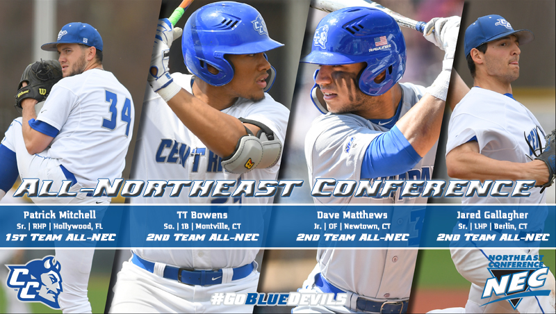 Four Blue Devils Earn Baseball All-Northeast Conference Honors