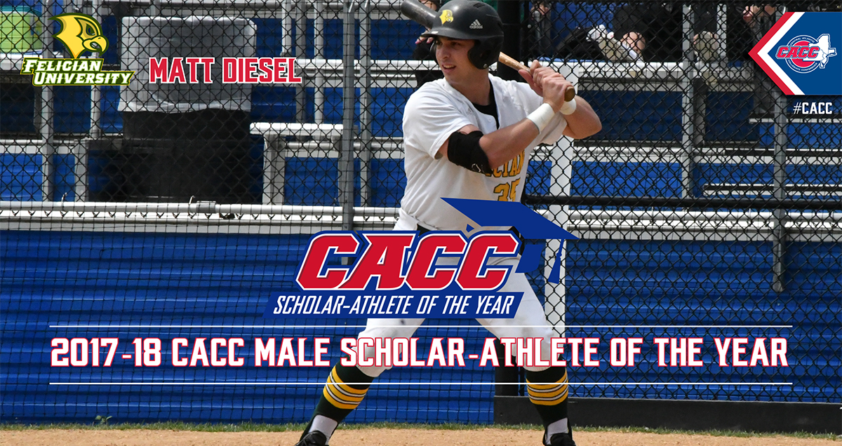 Felician's Matt Diesel Named 2017-18 CACC Male Scholar-Athlete of the Year