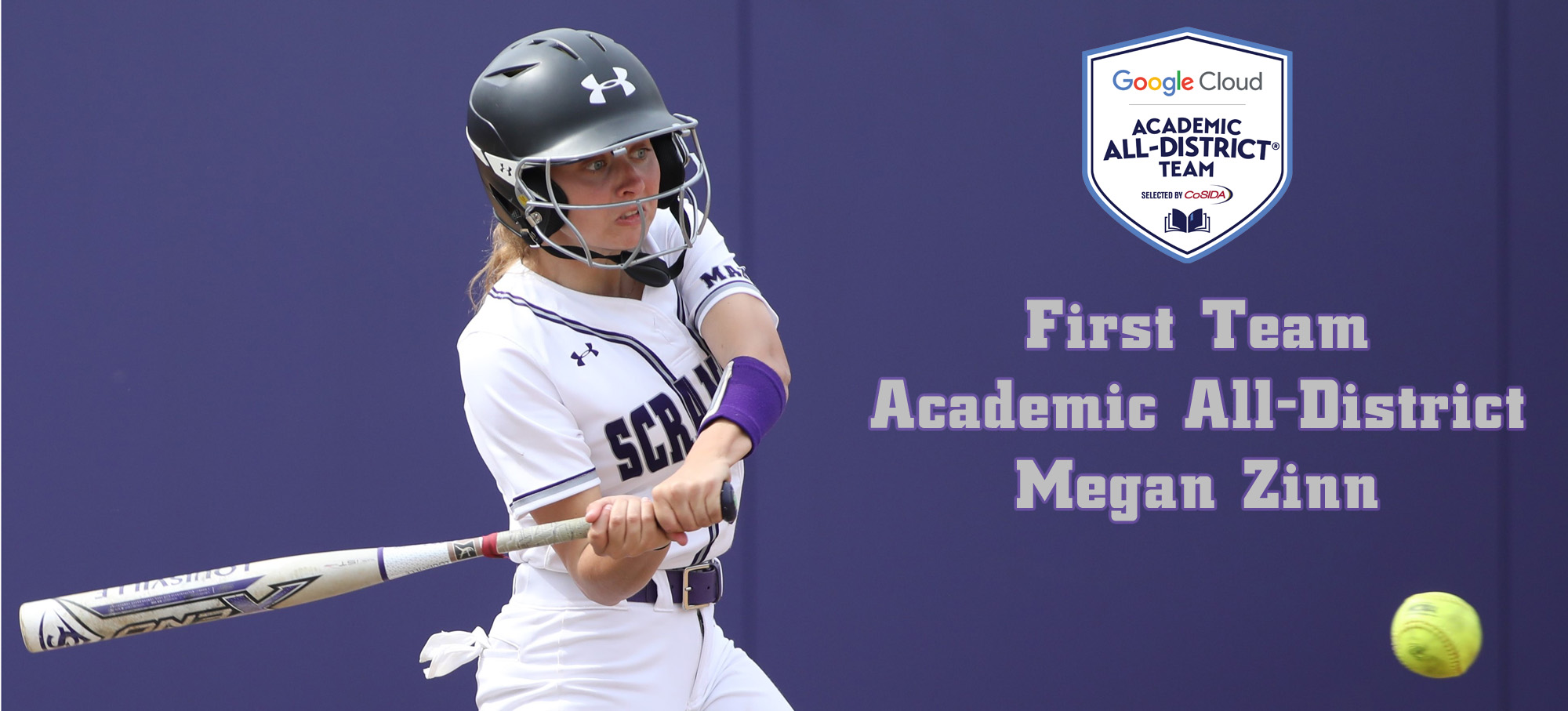 Junior Megan Zinn has been named to the CoSIDA Academic All-District Team for the second year in a row. © Photo by Timothy R. Dougherty / doubleeaglephotography.com
