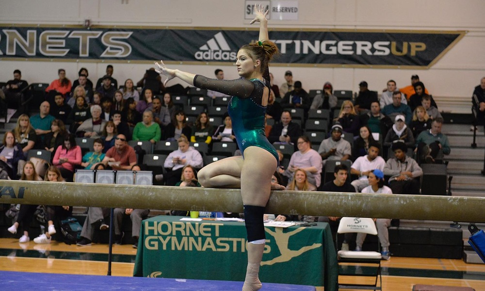 GYMNASTICS BACK ON THE ROAD AGAINST FAMILIAR FOE ON FRIDAY