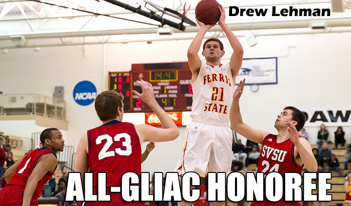 Ferris State's Drew Lehman Earns All-GLIAC Accolades This Season
